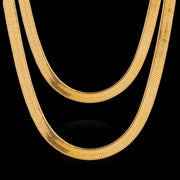 Men's Gold-plated Snake Bone Necklace