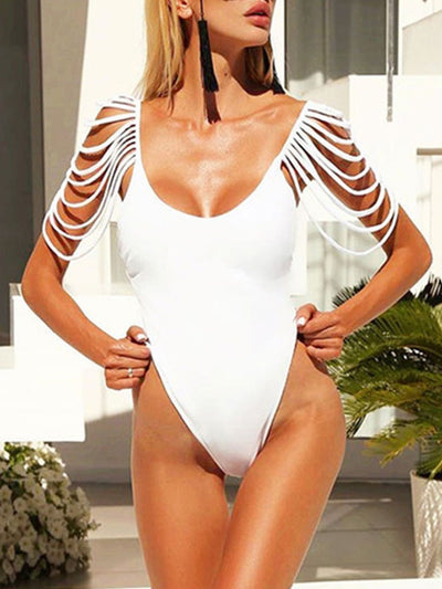 Strap Tassel Sexy One-Piece Swimsuit