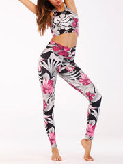 Women's Print Tank Fitness Yoga Set