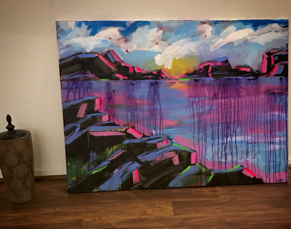 ORIGINAL Abstract Landscape Painting. Title: