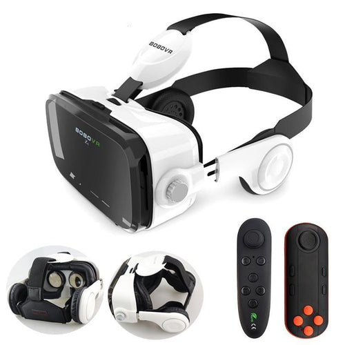3D Virtual Reality VR Glasses Headset Stereo Sound for 4-6' Mobile Phone