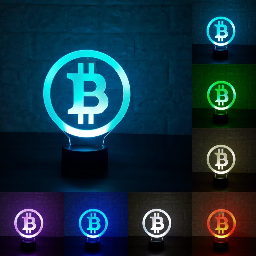 3d Bitcoin lamp - 7 Colors