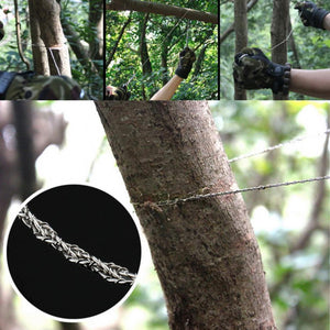 Outdoor rope chain saw / survival gear