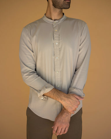 Band Collar Long Sleeve