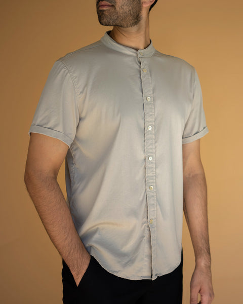 Band Collar Short Sleeve