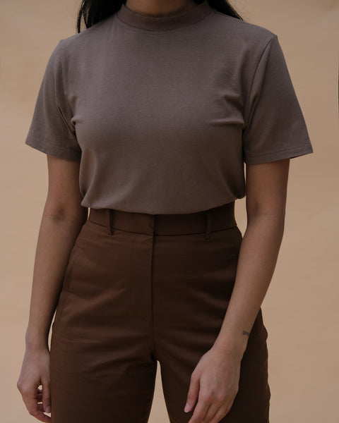 Bamboo Mock Neck Tee