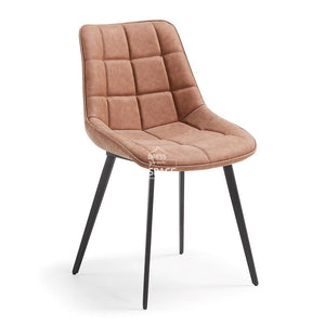 Adah Chair - Rust PU - Indoor Dining Chair - La Forma