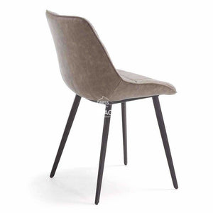 Adah Chair - Taupe PU - Indoor Dining Chair - La Forma
