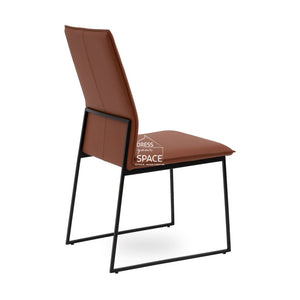 Alana Chair - Rust Leather - Indoor Dining Chair - DYS Indoor