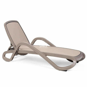 Alfa Pool Lounger - Taupe - Outdoor Sunlounger - Nardi