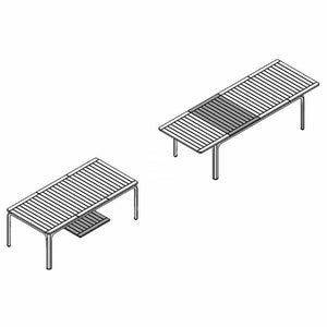 Alloro Extension Table - White - Outdoor Extension Table - Nardi