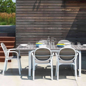 Alloro Extension Table - White/Taupe - Outdoor Extension Table - Nardi
