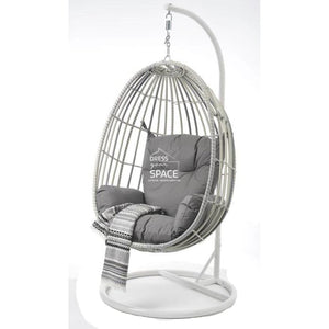 Armstrong Egg Chair - White/Grey Mix - Outdoor Hanging Pod - DYS Outdoor