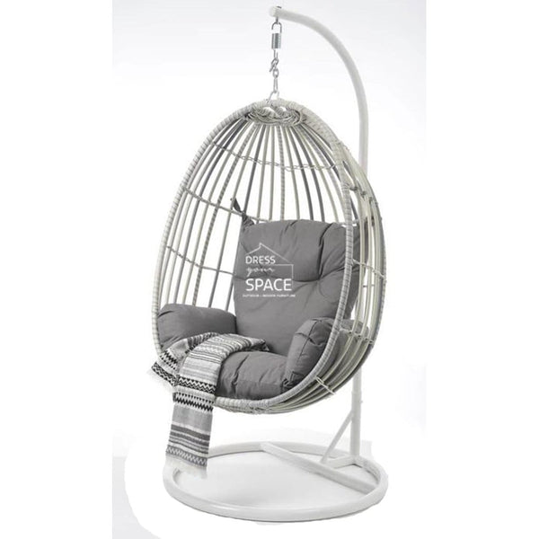 Buy Armstrong Egg Chair White Grey Mix By Dys Outdoor Fast Shipping Australia Dress Your Space