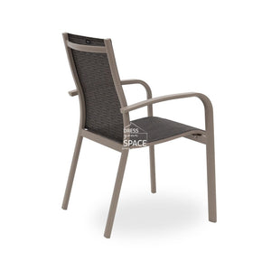 Atlantis Chair - Mink/Platinum - Outdoor Chair - DYS Outdoor