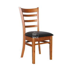 Beatrice Chair - Teak/Black PU - Indoor Dining Chair - DYS Indoor