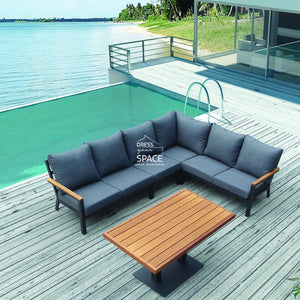 Byron Bay Corner Lounge - Charcoal - Outdoor Lounge - Lifestyle Garden
