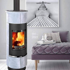 Cadiz Serpentino Wood Fireplace - Indoor Fireplace - Euro
