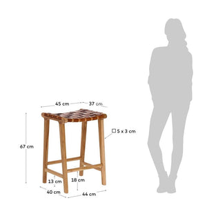 Calixta Stool - Teak - Indoor Counter Stool - DYS Indoor