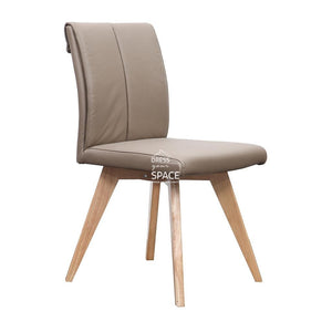 Carmen Chair - Natural/Mocha Leather - Indoor Dining Chair - DYS Indoor