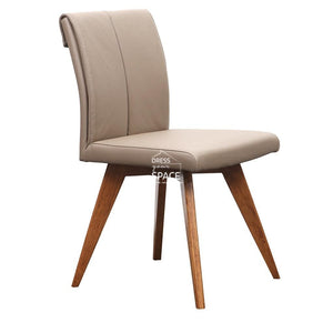 Carmen Chair - Teak/Mocha Leather - Indoor Dining Chair - DYS Indoor