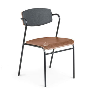Casper Chair - Walnut & Dark Grey - Indoor Dining Chair - La Forma