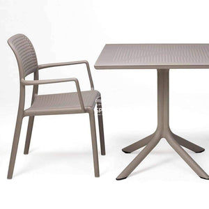 Clip Table - Taupe - Outdoor Cafe Table - Nardi