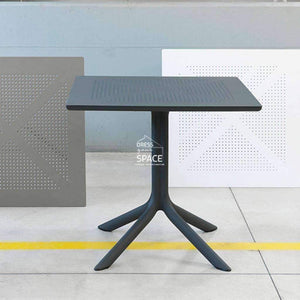 Clip Table - White - Outdoor Cafe Table - Nardi