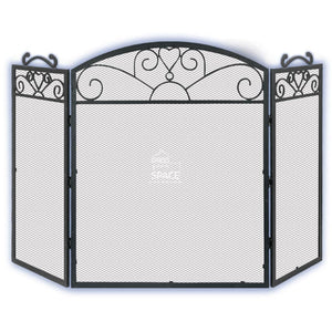 Cole Younger Large 3 Panel Cast Iron Screen - Fireplace Guard - DYS Fireplace Accessories