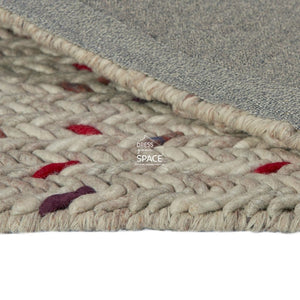 Criss-Cross Wool Rug - Multi - Indoor Rug - Ghadamian