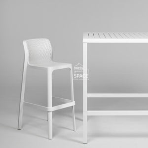 Cube Bar Table - White - Outdoor Table - Nardi