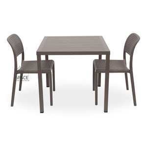Cube - Bora Armless Chair 3P Set - Outdoor Dining Set - Nardi
