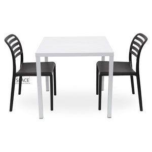 Cube - Costa Armless Chair 3P Set - Outdoor Dining Set - Nardi