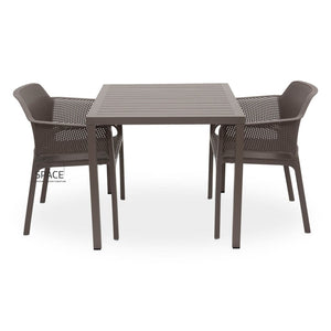 Cube - Net Chair 3P Set - Outdoor Dining Set - Nardi