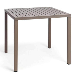 Cube Table - Taupe - Outdoor Cafe Table - Nardi