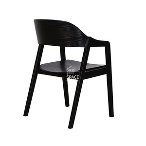 Dakota Chair - Black/Black PU - Indoor Dining Chair - DYS Indoor