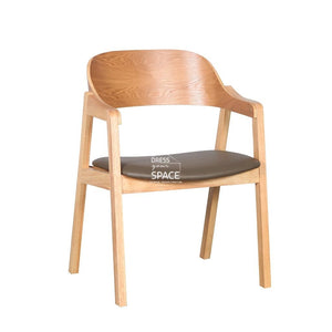 Dakota Chair - Natural/Pebble PU - Indoor Dining Chair - DYS Indoor