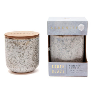 Earth Glaze Candle - White Tea & Ginger - Candle - Serenity Candles