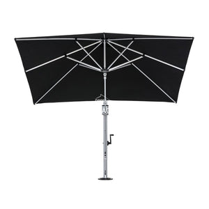 Eclipse Cantilever SQ. - Black - Cantilever Side Post Umbrella - Instant Shade