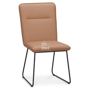 Emilia Chair - Camel Leather - Indoor Dining Chair - DYS Indoor