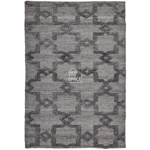 Estelle Trellis Silk Rug - Grey - Indoor Rug - Ghadamian