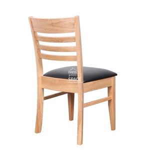 Flora Chair - Natural/Black PU - Indoor Dining Chair - DYS Indoor