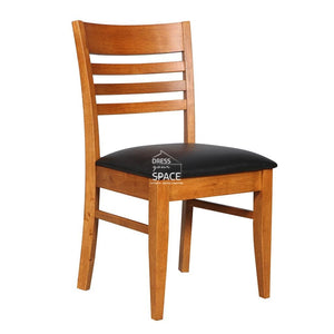 Flora Chair - Teak/Black PU - Indoor Dining Chair - DYS Indoor