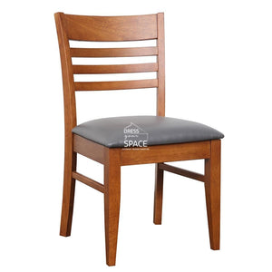 Flora Chair - Teak/Grey PU - Indoor Dining Chair - DYS Indoor
