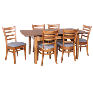 Florida Auto Extension Table & Beatrice Chairs - 7 Piece Dining Set - Indoor Setting - DYS Indoor