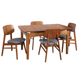 Florida Auto Extension Table & Gemma Chairs - 5 Piece Dining Set - Indoor Setting - DYS Indoor