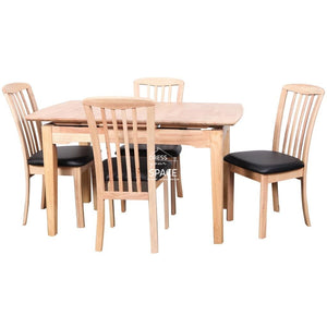 Florida Auto Extension Table & Mary Chairs - 5 Piece Dining Set - Indoor Setting - DYS Indoor