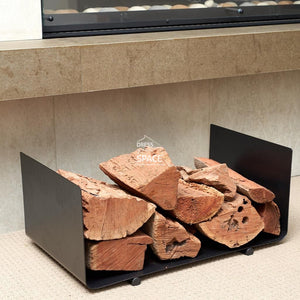 Frank Pistol Pete Eaton Log Holder - Wood Log Holder - DYS Fireplace Accessories
