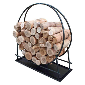 Gabriel xL Ring Wood Rack + Tray - Wood Rack - DYS Fireplace Accessories