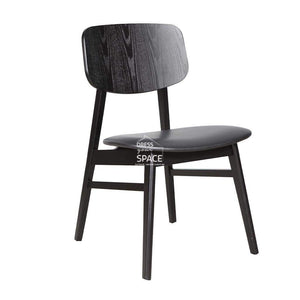 Gemma Chair - Black/Black PU - Indoor Dining Chair - DYS Indoor